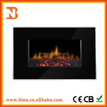 2015 Wall mounted pebble electric fireplace heater with LED light