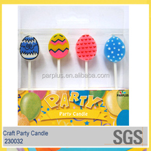 Fashion easter decorative pick candles for children party use