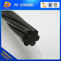 12.7mm 1860Mpa 7 Wire Low Relaxation PC Steel Strand Wire