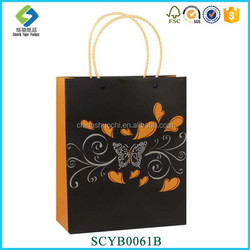 Good Quality Eco-friendly Gold Stamping Tote Folding Shopping Bag Paper Gift Bag