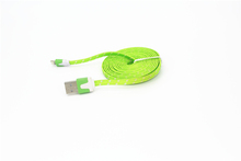 Wholesale Silver woven flat wire cable USB data Cable