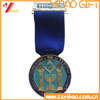 2015 cheaper souvenir & sport metal pocket medal with lanyard