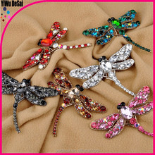 Europe and the United States to restore ancient ways of fashion diamond dragonfly brooch