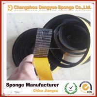 Black high quality EPDM adhesive sealing strip rubber mesh tape
