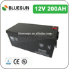 Bluesun 12v 200ah lead acid battery with ISO CE ROHS UL Certificate