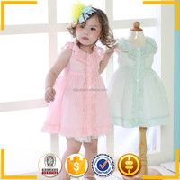 new style birthday casual dress 1 year baby fashion design small girls dress for 2 year old girl dress