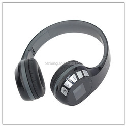 China suppliers wireless bluetooth stereo headphone with MP3 MP4 FM player