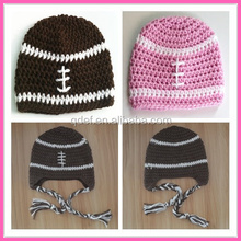 hand crochet custom hat children baby knitted football beanie hat