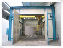 2015new model iron surface rust removal sandblasting room