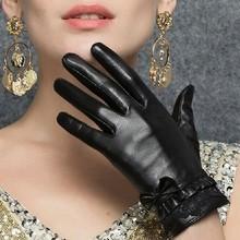 de encargo profesional lindo y cálido fino cuero de las señoras guantes