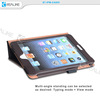 Luxury PU flip leather hand hold case for ipad mini