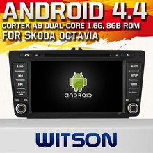WITSON Android 4.4 DVD HEAD UNIT FOR SKODA Octavia 2004-2011 1080P HD VIDEO 1.6GHZ Frequency DVR 3D MAP