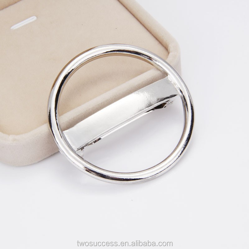 silver circle headdress circular shape hair clip metal hair jewelry.jpg