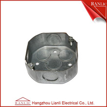 Hot dip or pre-galvanized floor outlet box