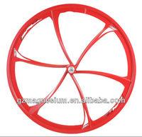 heat resistant energy saving 6 spoke bicycle wheel for fixed gear bike