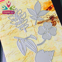 2015 hotsale cutting paper die for scrapbook craft stencil leave set high quality cutting die for Paper scrapbook