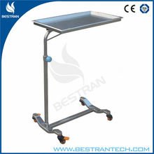 China BT-SMT002 Operating room stainless steel Surgery Mayo Table - Manual Mayo Trolley Dressing Trolley