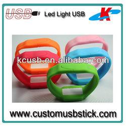 Waterproof Watch USB Flash Drive With LED Light