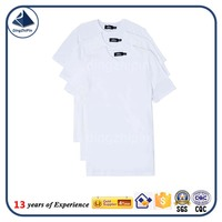 Custom cheap bulk wholesale white blank t shirts for promotion