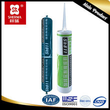 For non-structural glass curtain wall sealing lap and butt silicone rubber adhesive sealant