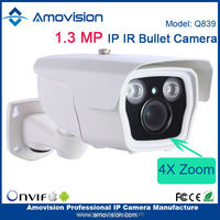 Amvision Q839 P2PONVIF H.264 960MP HD Wifi 4X Zoom IR-Bullet Camera free cmos waterproof ip camera