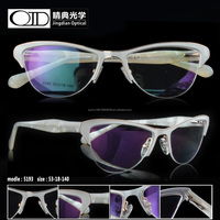 Wholesale Lady high quality stainless frame fashion cat shape design eyewear for woman 5193