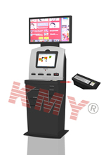 multi media system dual screen kiosk for bill payment