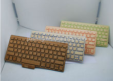 bamboo for macbook wooden keyboard / keyboard for mobile phone