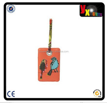 soft pvc Luggage Tag/photo frames designs