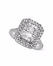 14k 18K White Yellow Rose Gold Platinum 3.70ctw Radiant Moissanite Diamond Engagement Ring