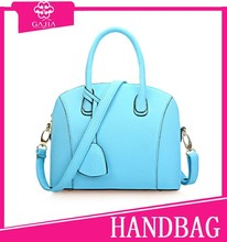 High end fashion women real pu leather bag hand bag with different color