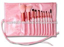 10 pieces pink makeup brush set cosmetic brush