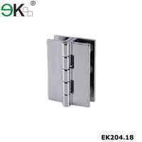 Stainless steel right angle bevel edge door hinge glass shower hinge