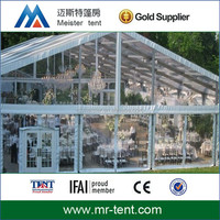 20x35 transparent wedding tent with wedding supplies