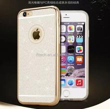 Glitter Powder PC Hard Cheap Mobile Phone Case for iphone 6/mobile phone cover case for iphone 6 4.7 inch