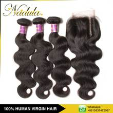 Pussy Indian Vergin Hair With Closure Package For Hair Extens
