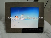 "OEM ODM 15"" acrylic digital photo frame with SD card slot, USB port, earphone jack"