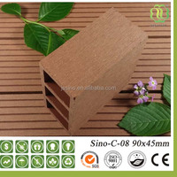 Wood Grain Timber Like Water Proof Eco Friendly Products Garden Use outdoor WPC Fence