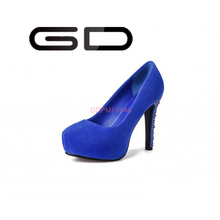 GD New Hot sexy style Shoes 2015 Crystal heels elegant mature ladies high pump shoes