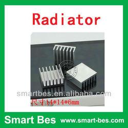Smart Bes customized are available fan heat sink ,aluminum radiator 14*14*6MM Notebook radiator