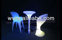 luz mobiliario/ con luce mesa y silla/ illuminated table and chair/ lounge mobiliario