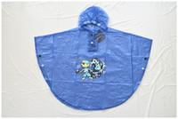 PVC waterproof plastic kids rain poncho cheap
