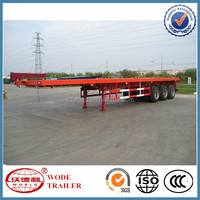 china factory sales 3 axle cargo trailer flatbed trailer