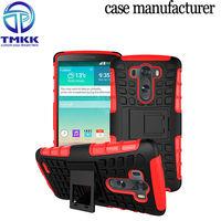 G3018 TPU + PC Holder Armour Case For LG G3 , Mobile Phone Hybrid Case