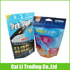customed heat seal ziplock bag with round hanged hole