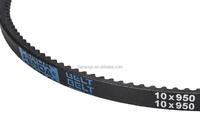 Rubber belt 10X950 cogged v-belt
