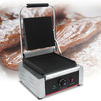 Outdoor picnic electric counter top portable contact grill, panini, sandwish and chicken grill maker