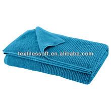 100% cotton beautifully textured blue jacquard hand towel