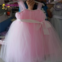 factory large stock veil puffy formal evening party dress for children
