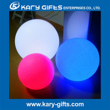 sample available ball lights plastic RGB color ball light